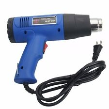 1500W 110V Heat Gun Hot Air Gun Dual-Temperature with 4 Nozzles Power Tools Blue