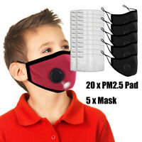 KIDS FACE MASK - Washable and reusable-Child Face Cover Double Layer With Filter