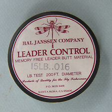 Hal Janssen'S Leader Control 15Lb Clear Amnesia, Sunset Line & Twine Co.