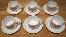 Vintage collectable retro Arcopal 70s FRANCE flowers Scania cup and saucer set