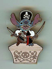 Disney Pin 54829 WDW Adventures on the 7 Seas Lagoon Pirate Stitch Gift LE 500