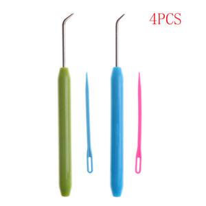 4pcs Needle and Hook Crochet Hook Set For Knifty Knitter & Knitting Loom Ho^lk