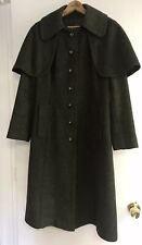 VINTAGE Erka Womens WOOL Cape COAT Made In AUSTRIA ORIGINAL LODEN -small c.1970