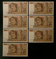 100 FRANCS 1990 DELACROIX - BILLETS CONSECUTIFS x 2 - LOT -