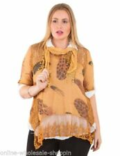 Cotton 3/4 Sleeve Tunic Tops for Women