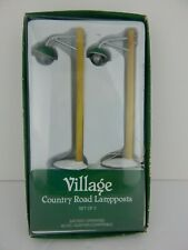 Dept 56 Village Country Road Lampposts #52628 Good Condition