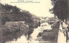 AK Charleville Mont Olympe Canal de Derivation du Vieux Moulin et le Pont Montcy