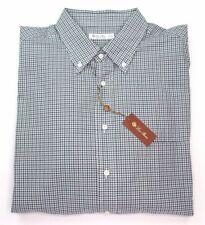 NWT $495 Loro Piana ALFRED Plaid Cotton Long Sleeve Shirt, Size XXXL 3XL