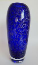 Mats Jonasson Vase designed by Erika Hoglund cobalt silver MINT