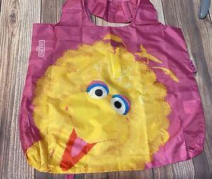 2009 Envirosax Sesame Street Kids Reusable Shopping Tote Bag, Big Bird Pink