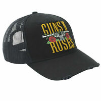 Guns N Roses Truckers Cap - Stacker Logo by Amplified -Black