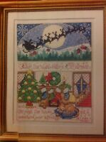 Santa's Coming Christmas Eve By Joan Elliott Christmas Cross Stitch Chart