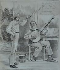 NY Daily Graphic. An Unfortunate Political Musician. 1876.