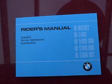 BMW Motorrad Typ R 80 RT 100 CS RS RT Oldtimer Handbuch manual handbook