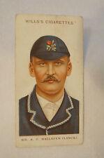 1908 Vintage Wills Cricket Card - A.C. Mac Laren - Lancashire.