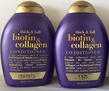 2 Pack OGX ORGANIX Thick & Full Biotin & Collagen Hair Conditioner 13oz 385ml