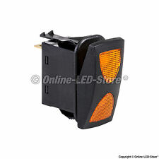 OLS 14V DC 20A 4-Pin Amber LED ON-OFF-ON SPDT Rocker Switch (3 Position)