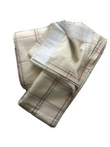 Laura Ashley 'Corby' Cranberry Check Curtains.