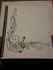 Blank Sheet Music Score Manuscript Paper / Staff Paper / Musicians Notebook