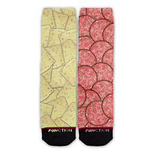 Function - Pepper Jack Cheese and Salami Fashion Socks all over sublimation