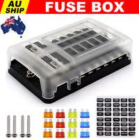 Fuse Box Block 12V Car Auto Marine Blade Holder LED Light Circuit Tester 12 Way