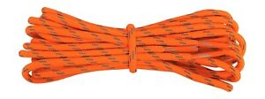 Hiking Boot Laces - Neon Orange with Reflective Flecks - 4 mm round