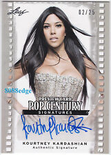 2011 POP CENTURY PREVIEW AUTO:KOURTNEY KARDASHIAN #2/25 AUTOGRAPH KIM'S SISTER