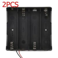 2pc Holder Storage Box Case for 1/2/3/4x 18650 Rechargeable Battery w/ Wire Lead