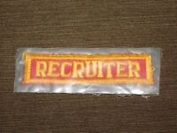 VINTAGE BOY SCOUTS OF AMERICA BSA RECRUITER CLOTH PATCH