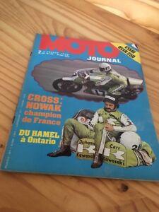 MOTO JOURNAL 1973 N° 139 Ossa 250 Enduro , Motobécane 350 , Duhamel , poster ...