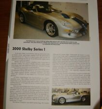 ★★2000 SHELBY SERIES 1 SPECS INFO PHOTO 00 ROADSTER S1 SI I★★