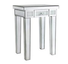 Mirrored Glass 1 Drawer Lamp / End Table W40.5cm x D30cm x H56cm VICTORIA