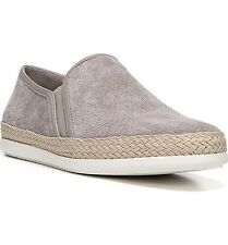 NEW $225 Vince Slip-on Sneakers Shoes Suede Espadrilles light wood smoke 8.5