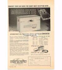 1960 International Crystal Mobilette Car Radio Converter Short Wave Vtg Print Ad