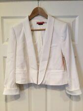 Alice + Olivia White Cropped Blazer, Size Large NWT! $396