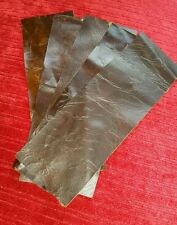 """Brown Vintage Aged 100% Real leather X5 offcuts  9""""x 3"""" 1.1mm Craft Patch Repair"""
