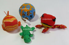 Loose Lot 4 Taco Time 1998-2004 Plush Toy Ball Frog Turtle Animal Stuffed Fish