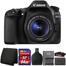 Canon EOS 80D Digital SLR Camera with 18-55mm Lens and Accessories