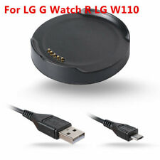 LG G Watch R LG W110 Smart watch Charger Dock Cradle & USB data cable