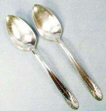 2 Radiance Silverplate Soup Spoons Oval Crown International Vintage Flatware