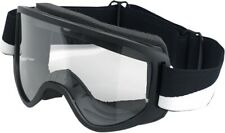 Biltwell Mens Motorcycle Moto 2.0 Goggles Lightning Bolt Black/White