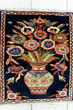 2X3 Perfect Gift Mint 300+Kpsi Hand Knotted Pictorial Wool Kashmarr Painting Rug