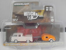 KKar Greenlight - 2017 Hitch & Tow - '68 VW Type 2 & Teardrop Tr.- Gray & Orange