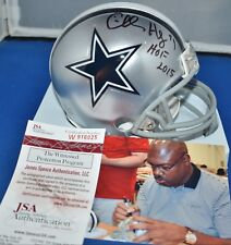 CHARLES HALEY AUTOGRAPHED MINI HELMET DALLAS COWBOYS HOF 2015 JSA