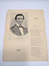 Vintage 1931 Publication New England Torn Page One Page Incomplete