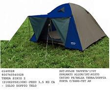Tenda igloo escursione campeggio SIRIO 2 doppio telo e balconcino peso 3,5 kg
