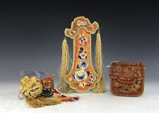 Nice Lot Of Old Chinese Silk Embroidered Bags And Objects Purses
