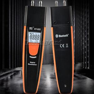 HT-805 Bluetooth Digital Manometer Air Pressure Meter Differential Gauge Hi