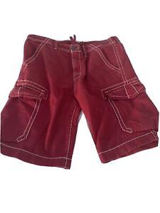 """True Religion Red men's Shorts 36"""" waist, white stiching"""