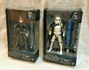 2 Hasbro Star Wars The Black Series figures Luke Skywalker #03 - sandtrooper #01